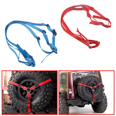 New 2Pcs 3-Point Strap Spare Tire Tie Down Fit for Traxxas TRX-4 RC 1/10 Crawler