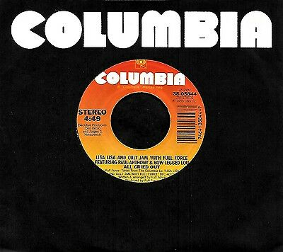 """LISA-LISA CULT JAM FULL FORCE """"ALL CRIED OUT/Behind..."""" COLUMBIA 05844 (1986) 45"""