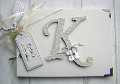 Personalised  Photo Album/scrapbook.memory/guest Book. First Birthday