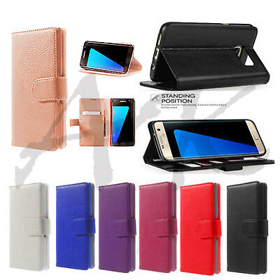 Case For Samsung Galaxy A3 2017 Luxury Genuine Real Leather Flip Wallet Cover
