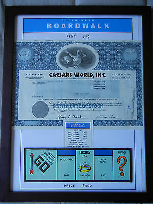 Monopoly Boardwalk and Park Place Art including Stock Certificates (set of 2)