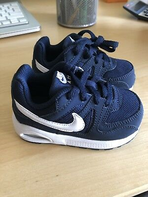 cff7848458 Nike Air Max Command Flex (TD) Toddler Size Navy And White Shoes 5c Sneakers