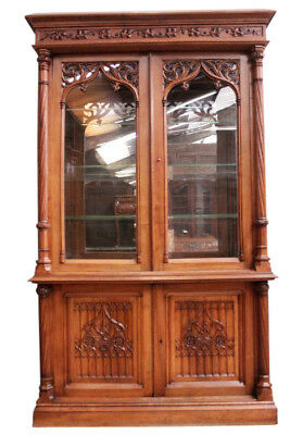 Amazing Antique French Gothic Display Cabinet, Great Quality, 19th Century