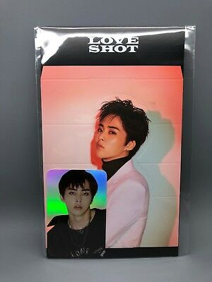 EXO Official LOVE SHOT Goods - Holographic PhotoCard with Standee - XIUMIN