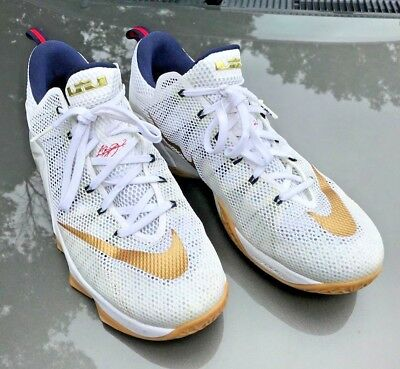 H2F Nike LEBRON JAMES 12 XII - Size 13.5 - Low USA Gold Medal Olympic 724557 19d5409df2f3
