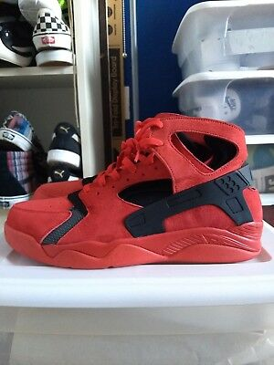 Nike Air Flight Huarache Red Love Hate Red Suede Mens 13 Brand New Rare!!