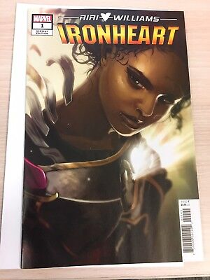 IRONHEART #1 HANS 1:50 VARIANT COVER Riri Williams NM (or higher)!!!