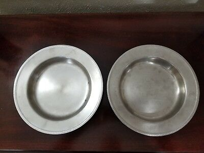 2 Vintage Legion Utensils Stainless Steel Round Rimmed Serving Bowls Pat 11-6-51