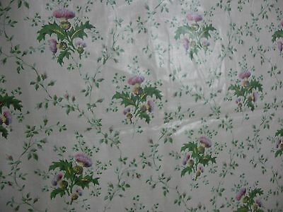 TITLEY & MARR Fabric THISTLE Off White Green Purple Chintz Fabric 3 yards long