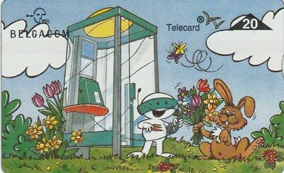 Belgium Belgacom Phonecard 20 Comic Rabbit Used