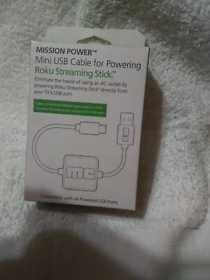 Mission Power Mini USB Cable for Powering Roku Streaming Stick