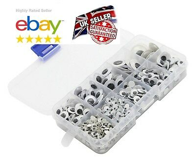 BOX 650Pcs WOBBLY GOOGLY EYES. CRAFT'S PEEL OF STICKER'S TOP QUALITY UK SELLER