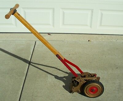 "Antique 1950's Great States El Capitan 6"" Reel Mower Edger Red & Bronze LT 5 1 L"