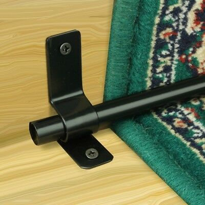 Carpet Rod Brackets Black Brass Stair Runner Rod Brackets