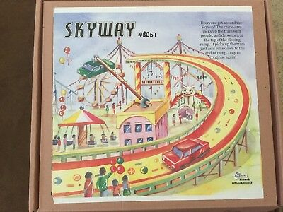 Welby SKYWAY FAIR RIDE TIN Litho TOY 1945 Achterbahen 104 Roller Coaster Copy