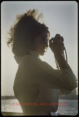 1960S Sexy Young Woman Photographer With Camera Orig Vtg 35Mm Photo Slide Cute