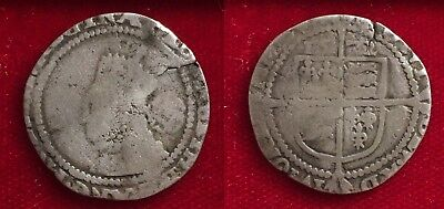 Great Britain Elizabeth I Sixpence Small Planchet 1572 Hammered Silver Coin