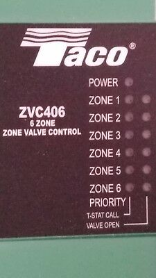Taco Zvc406, Zvc-406 6 Zone Switching Relay With Priority For Zone Valves