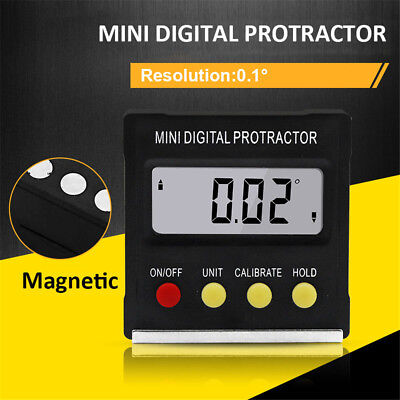 Base Electronic Level Box Angle Gauge Meter Digital Protractor Inclinometer