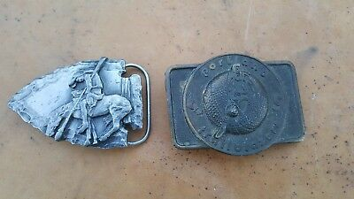 Vtg. 2pcs. Belt buckle 1978 Portland Trail  Blazers & 1988 Siskiyou chief Joseph