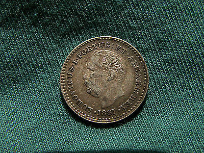 Portugese-India Goa 1881 1/8 rupee excellent condition rare 1 year coin