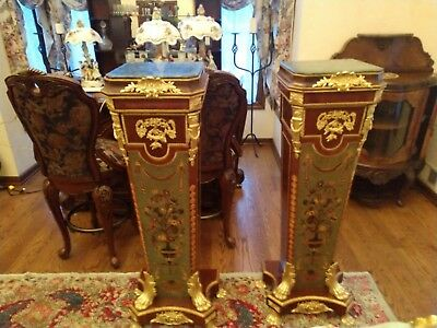 """""""Pair"""" Louis XV Style Pedestals, Beautiful, Ornate, Perfect Condition"""