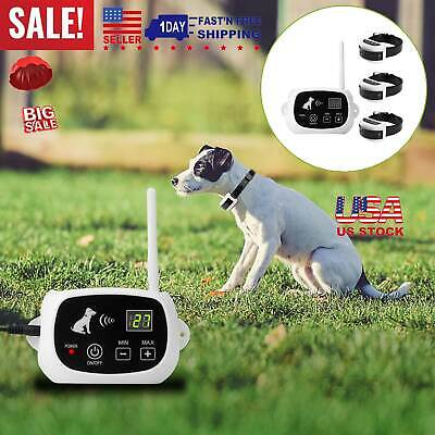 Wireless Waterproof Electric Dog Pet Fence Containment System Transmitter Collar