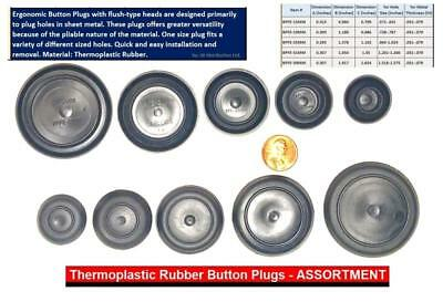 CAPLUGS Rubber Flush Mount Body n Sheet Metal Holes PLUGS 5 Pc Assortment by SBD