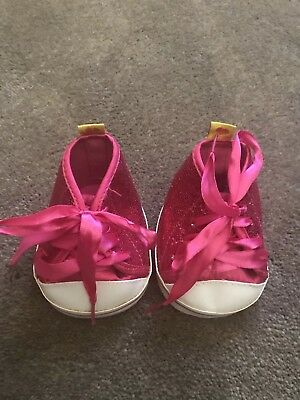 Build A Bear Shoes Sneakers Hot Pink Sparkly
