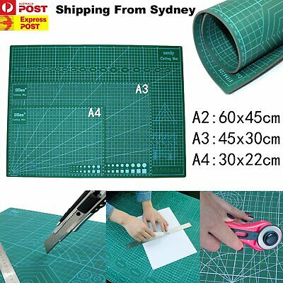A2 A3 A4 PVC Thick Self Healing Cutting Mat Craft Quilting 2 Sides Printed Board