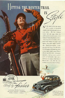 1938 Body By Fisher Auto Vintage Print Ad   Unisteel Turret Top Body s