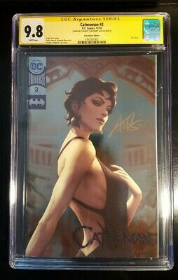 CGC SS Catwoman #3 NYCC Convention Exclusive Foil Variant Signed by Artgerm