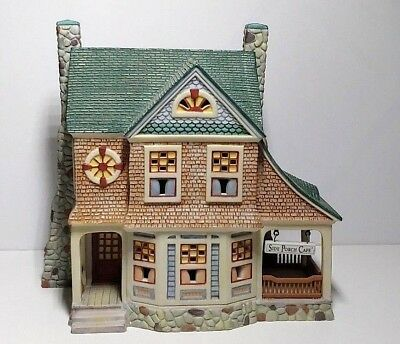 1998 Department 56 Seasons Bay The Side Porch Cafe Lighted House Christmas Decor