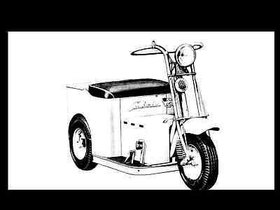 Cushman Minute Miser Electric Cart Scooter Manuals 95pg Operations