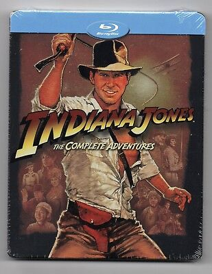 Indiana Jones Collection 1-4 - Blu-ray Steelbook - NEW / SEALED - Regions: A/B/C