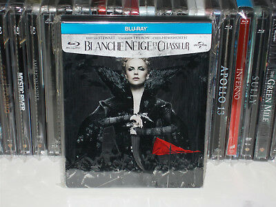 """Steelbook""""Blanche-Neige et le Chasseur""""edition Française comme neuf Blu-ray+DVD"""
