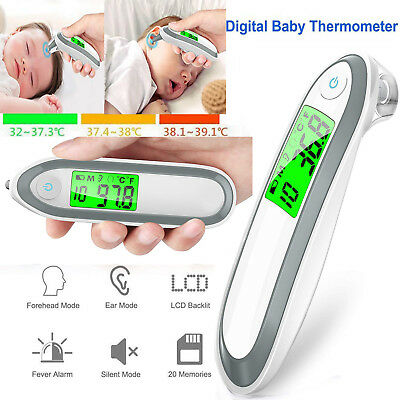 Non-Contact Baby Thermometer Digital Ear Forehead Infrared Body Temperature Test