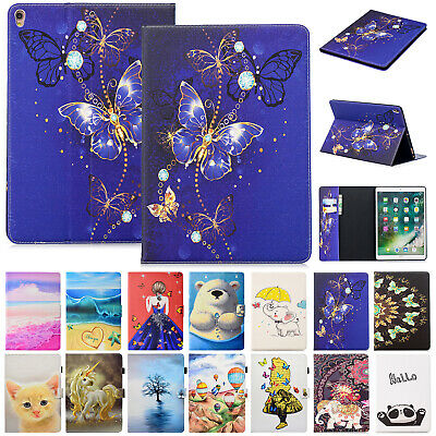 For Apple iPad Air 1 2 Case Cute Patterned Leather Card Holder Flip Stand Cover