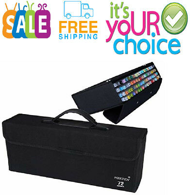 72-Pcs Markers Carrying Case Empty Holder for Copic Prism-Color Touch Spectrum