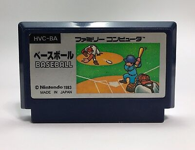 Nintendo Famicom NES BASEBALL HVC-BA 1983 Japanese video game NTSC-J 001