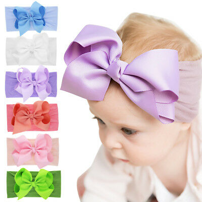 Knotted Nylon Headband Girls Hair Band Bowknot Turban Newborn Baby Hairband
