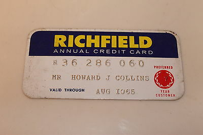 Vintage Credit Card****RICHFIELD*****Expired 1965
