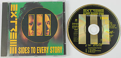 EXTREME III (3) Sides To Every Story CD album DJ PROMO UK 1992 A&M  Disc EX+/NM