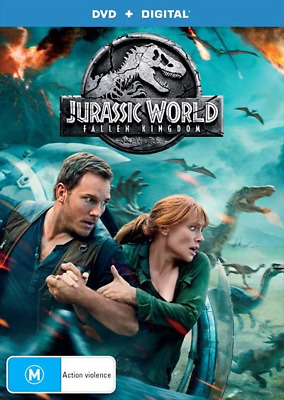 Jurassic World - Fallen Kingdom (DVD, 2018) NEW
