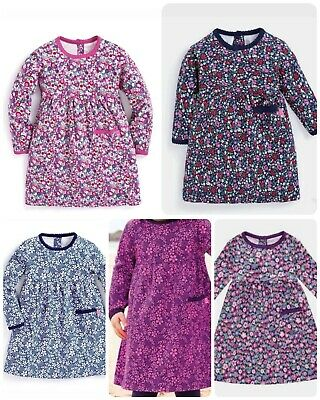 Girls Classic Floral Long Sleeve Dress Ex JoJo Maman Bebe 3 M - 6 Years RRP £20