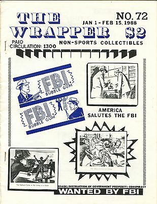 THE WRAPPER No 72 NON-SPORTS CARDS COLLECTIBLES - F.B.I. CARDS - 1988