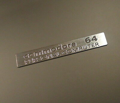 Commodore C64 Label / Aufkleber / Sticker / Badge / Logo 7,7cm x 1,2cm [242]