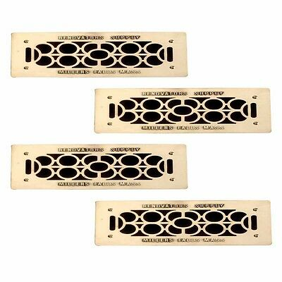 "4 Floor Wall Heat Air Grill Vent Grate Solid Brass 4.75 ""x 11"" 