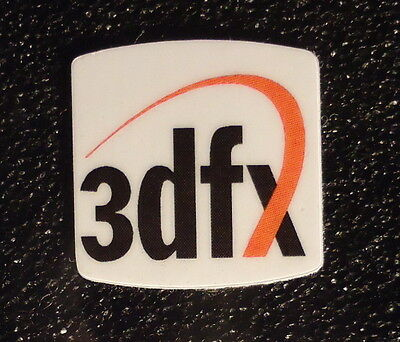 3dfx case Label / Aufkleber / Sticker / Badge / Logo 20x20mm [301]