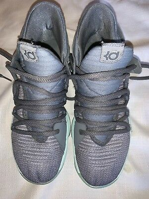 b64a72635c269 Nike Zoom KD 10 Durant GS Cool Gray Igloo   Mint Green  918365 002 Size